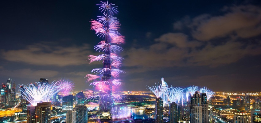 Dubai during the New Years eve