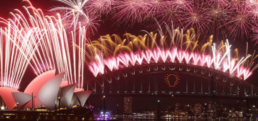 Sydney Harbour during New Year eve