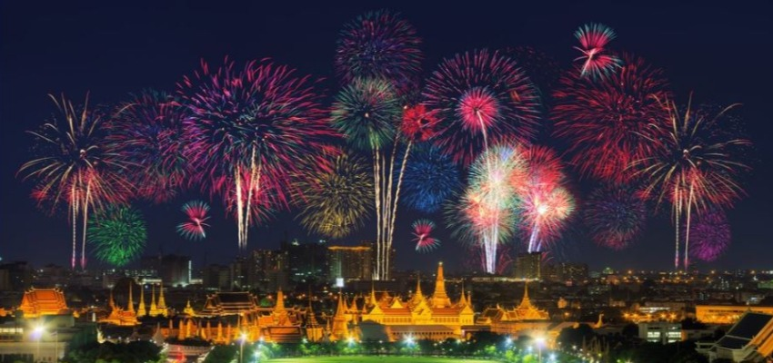 Bangkok Thailand during the New years eve