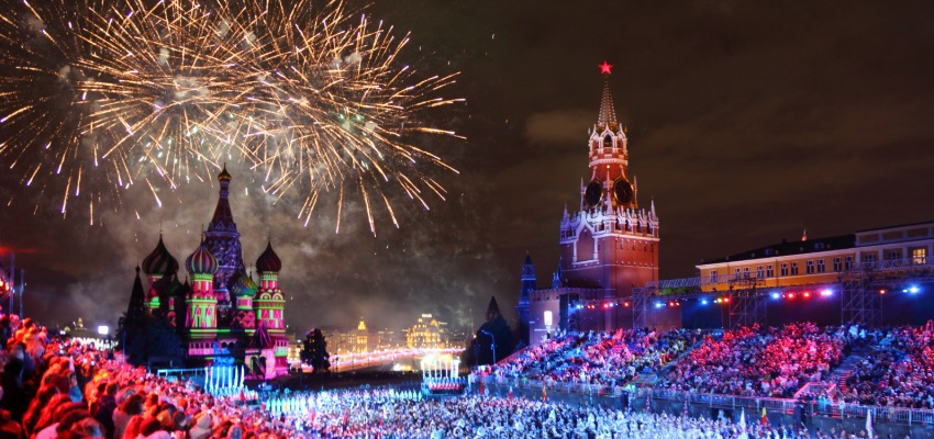 Moscow Russia during the new year eve