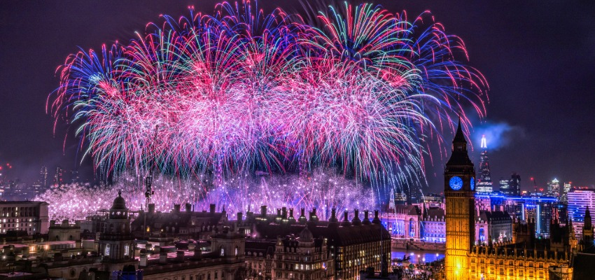 London England during New years eve