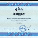 Certificate given by Azerbaijan Tourism Association - 2009
